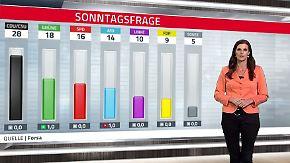 Öko im Aufwind: CDU schwächelt weiter, grüner Höhenflug hält an