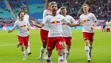 Sechs Mal freuen konnte sich RB Leipzig.