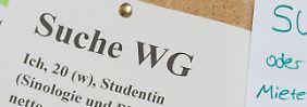 Die Not bei Studenten ist groß: Oft gehen zwei Dritteln ihres Geldes für die eigenen vier Wände drauf.