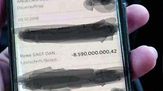 """Kaum zu glauben, aber wahr: Rewe """"bucht"""" Kundin 8,5 Milliarden Euro ab"""