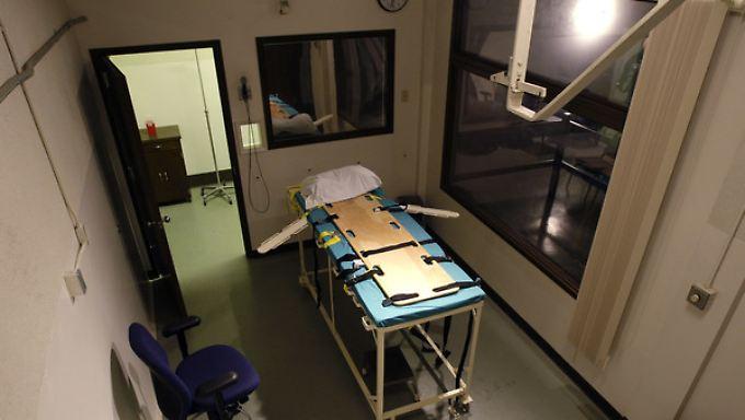 Hinrichtungskammer im Gefängnis Washington State Penitentiary.