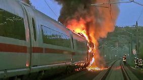 Evakuierung zwischen Köln und Frankfurt: ICE fängt auf offener Strecke Feuer