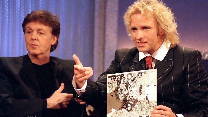 Paul McCartney nahm Thomas Gottschalks Ausführungen mit innerem Augenrollen hin.