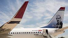 Maschine von Norwegian Air am Flughafen Ezeiza in Buenos Aires gelandet.