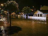 Heftige Regenfälle in der Region von Aveiro.