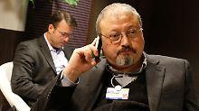 Jamal Khashoggi beim Weltwirtschaftsforum in Davos (Archivbild von 2011).