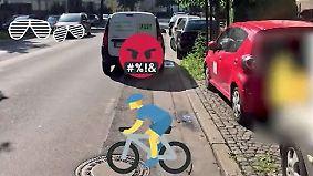 Radwegparker am Pranger: Polizei greift durch, Netz geht zu weit