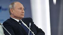 Wladmir Putin beim Waldai-Klub-Treffen.