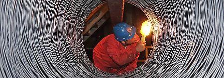 Unter anderem gegen chinesische Stahlprodukte hatte Trump hohe Zölle verhängt.