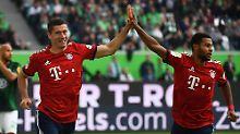 Robert Lewandowski schnürte gegen seinen Lieblingsgegner VfL Wolfsburg einen Doppelpack.
