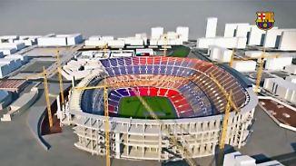 Platz für über 100.000 Zuschauer: So monumental wird Barcas neues Camp Nou aussehen