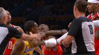 In Los Angeles fliegen die Fäuste: NBA-Spiel artet in wüste Schlägerei aus