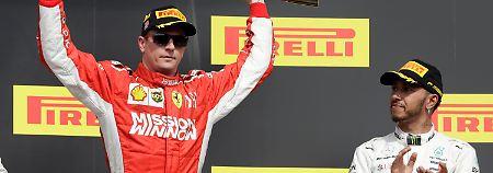 Ferrari-Pilot Räikkönen hat sich beim Großen Preis der USA den Sieg gesichert. WM-Spitzenreiter Hamilton muss auf seinen fünften Titel noch warten.
