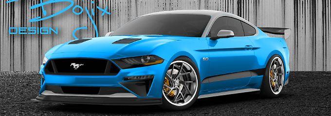 Der von Bojix Design getunter Ford Mustang GT setzt mehr auf Farbe als auf Leistung.