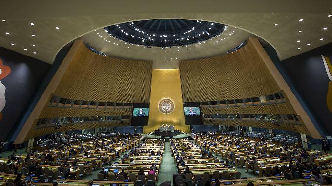 UN-Vollversammlung in New York.
