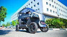 Kampf gegen Parkplatzmangel: Startup entwickelt faltbares Elektroauto