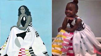 Samt Polizeischutz von der Schwester: Bezaubernder Superfan entzückt als Michelle Obama