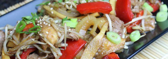 Die Frau am Grill: Flap Meat 2 - zartes Rindfleisch im Asia Wok