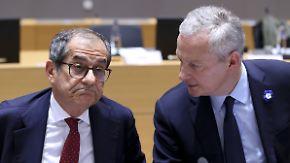 """Zwei Wochen für Nachbesserungen: EU bekräftigt """"Nein"""" zu Italiens Haushalt"""