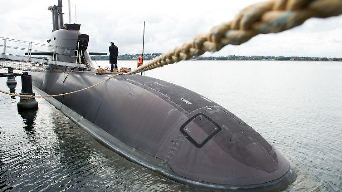 """Das neue hochmoderne U-Boot """"U36"""" der deutschen Marine."""