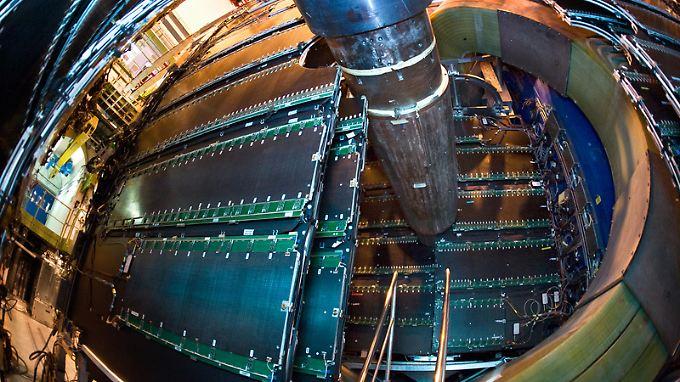 """Teile des """"Alice""""-Detektors am """"Cern"""": Am weltgrößten Teilchenbeschleuniger bei der Europäischen Organisation für Kernforschung Cern wird das Experiment """"Alice"""" durchgeführt."""