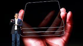 Zwischen Smartphone und Tablet: Samsung stellt faltbares Display vor