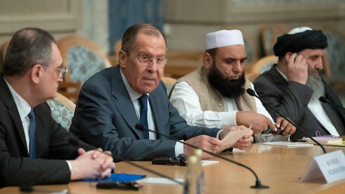 Russland Außenminister Sergey Lawrow gibt sich optimistisch.