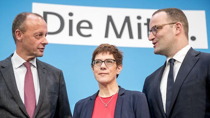 Die drei möglichen Merkel-Erben demonstrierten Versöhnlichkeit.