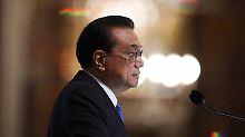 Li Keqiang verspricht verstärktes ein chinesisches Engagement für einen freien Welthandel.