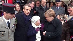 Kuriose Verwechselung: 100-Jährige hält Merkel für Frau Macron