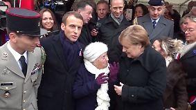 Kuriose Verwechslung: 100-Jährige hält Merkel für Frau Macron