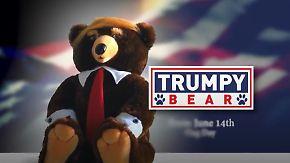 Patriotismus oder Satire?: Werbespot preist Plüschbären im Trump-Look an