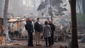 Gewaltige Zerstörung in Brandgebiet: Trump-Besuch in Kalifornien stößt auf geteiltes Echo