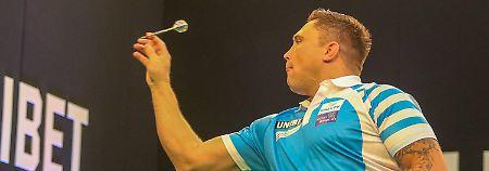 Gerwyn Price kann trotz Rugby-Statur auch richtig gut Darts spielen.