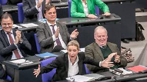 Generaldebatte im Bundestag: Weidel, Merkel und Nahles verteidigen