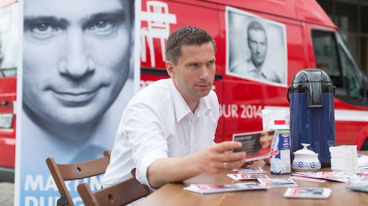 Im Wahlkampf zur Landtagswahl 2014 kam der Küchentisch von Martin Dulig erstmalig zum Einsatz.