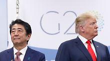 Nach Treffen mit Trump: Abe hält Protektionismus für schlechte Idee