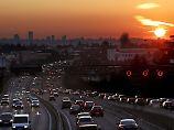 Feierabendverkehr vor den Toren Madrids.