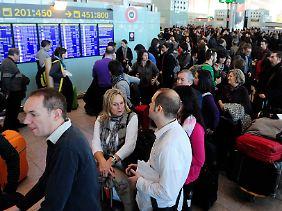 Chaos auf dem Flughafen von Barcelona.