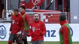 Angsteinflößender Jubel-Ausraster: Trainings-Treffer versetzt Ribéry in Ekstase