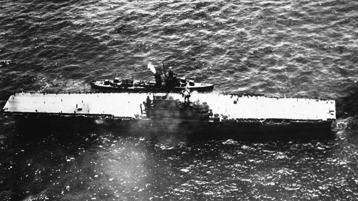 1942 versenkter US-Flugzeugträger in Pazifik entdeckt