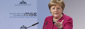 Der große Graben: Merkel fordert Pence heraus