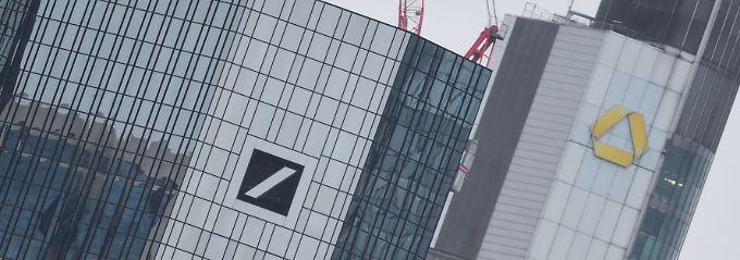 Deutsche Bank hat Vorbehalte: Von Euphorie bei Banken-Ehe keine Spur