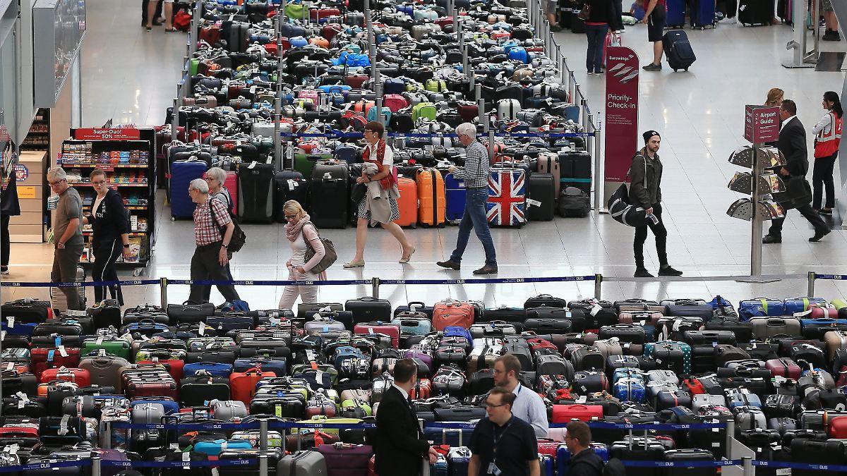 Passagiere müssen ohne Gepäck losfliegen