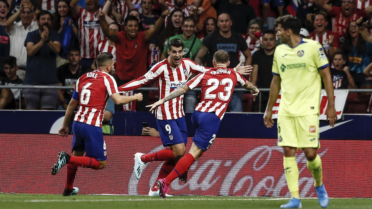 Spaniens Vizemeister Atlético Madrid müht sich
