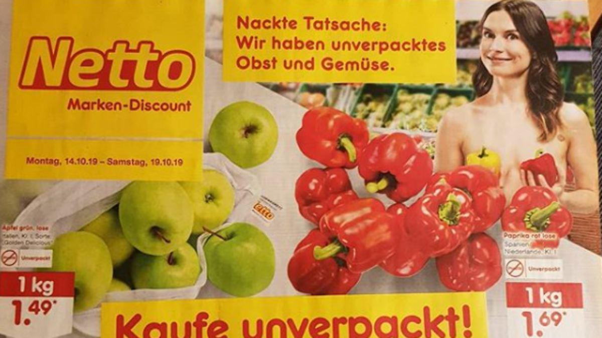 Netto provoziert mit nackten Werbe-Models