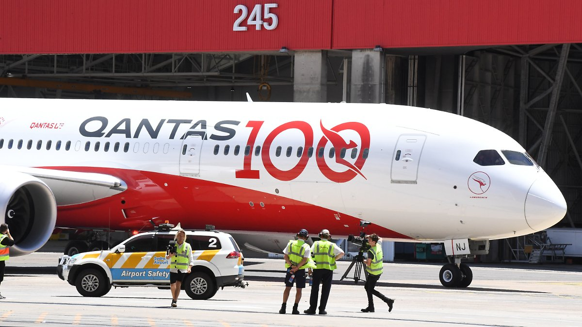 Rekordflug aus London landet in Sydney