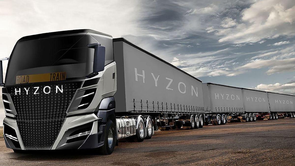 Überlanger Wasserstoff Lkw von Hyzon