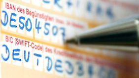 Die IBAN hat 22 Stellen, bisherige deutsche Kontonummern haben in der Regel nicht mehr als zehn.
