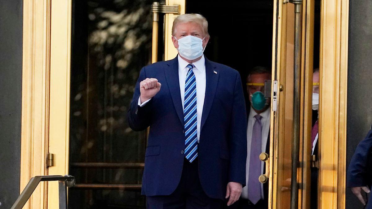 Covid-19-Erkrankung im Oktober:Trumps Zustand war wohl ernster als behauptet - n-tv NACHRICHTEN